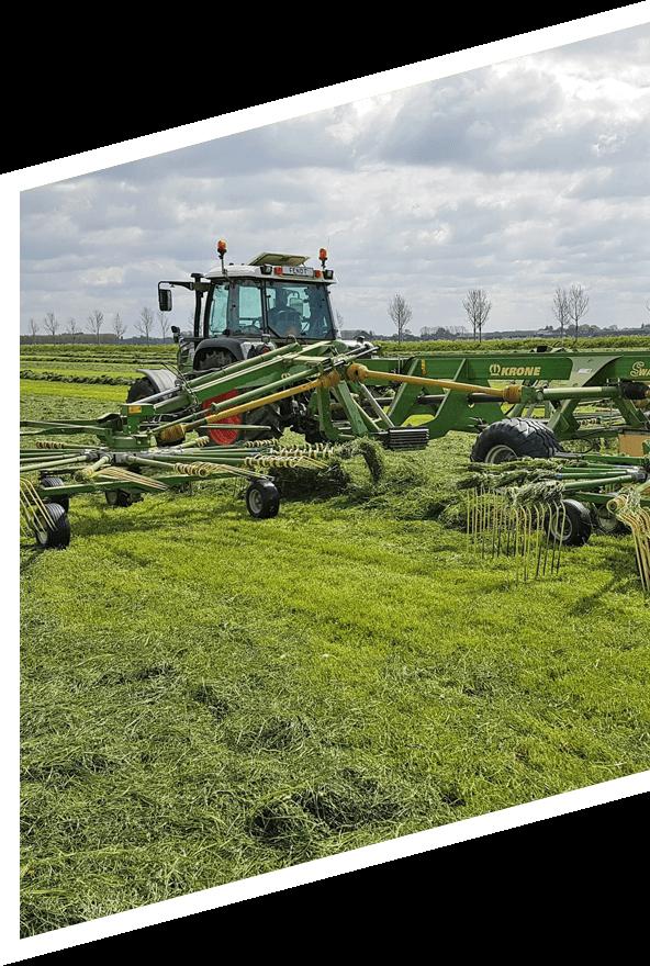 agrarisch gras harken machine